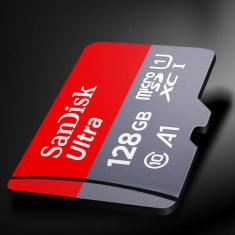 SanDisk(闪迪)Ultra 128G A1级至尊高速移动microSDXC UHS-I存储卡 读取100MB/S(667X)TF卡手机卡、行车记录仪专用